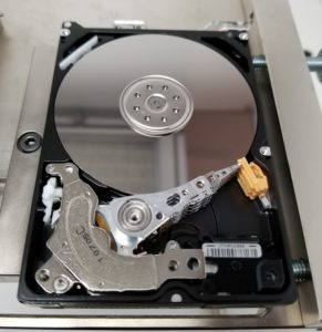 Hard drive in clean room